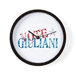 Vote Giuliani President 2008 Elect Wall Clock