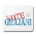 Vote Giuliani President 2008 Elect Mousepad
