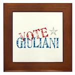 Vote Giuliani President 2008 Elect Framed Tile
