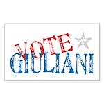 Vote Giuliani President 2008 Elect Sticker (Rectan