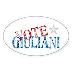 Vote Giuliani President 2008 Elect Oval Sticker
