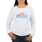 Vote Giuliani President 2008 Elect Women's Long Sl