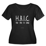 HBIC Women's Plus Size Scoop Neck Dark T-Shirt