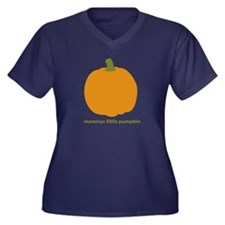 Mommys Little Pumpkin Women's Plus Size V-Neck Dar