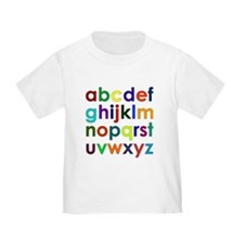 Colorful Alphabet T