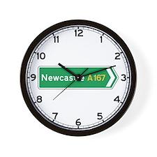 Newcastle Roadmarker, UK Wall Clock