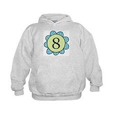 8 blue/green flower Hoodie