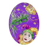 Mardi Gras ceramic keepsake (Oval)