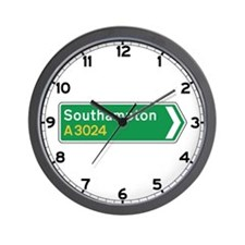 Southampton Roadmarker, UK Wall Clock