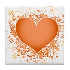 Heart Design Tile Coaster