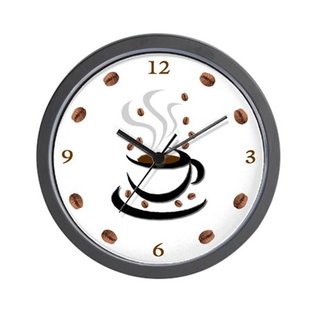 Coffee Cup &amp;amp; Bean: Wall Clock
