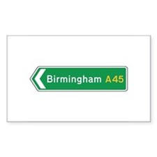 Birmingham Roadmarker, UK Rectangle Decal