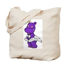 Hippo Pin Up Tote Bag