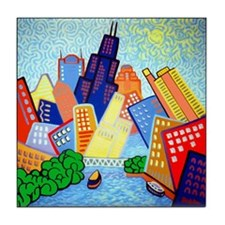 SOUTH RIVER VIEW <br>Chicago Tile Coaster