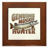 Muskie Hunter Framed Tile