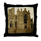 Melrose Abbey Throw Pillow