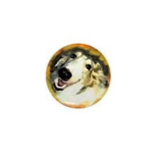 Cute Borzoi Mini Button