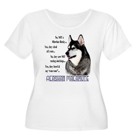 Malamute FAQ2 Women's Plus Size Scoop Neck T-Shirt