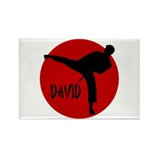David Karate Rectangle Magnet