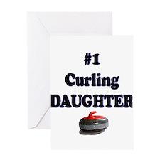 #1 Curling Daughter Greeting Card