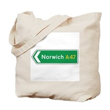 Norwich Roadmarker, UK Tote Bag