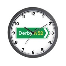 Derby Roadmarker, UK Wall Clock