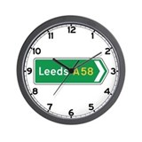 Leeds Roadmarker, UK Wall Clock