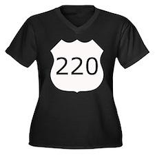 Highway 220 Women's Plus Size V-Neck Dark T-Shirt