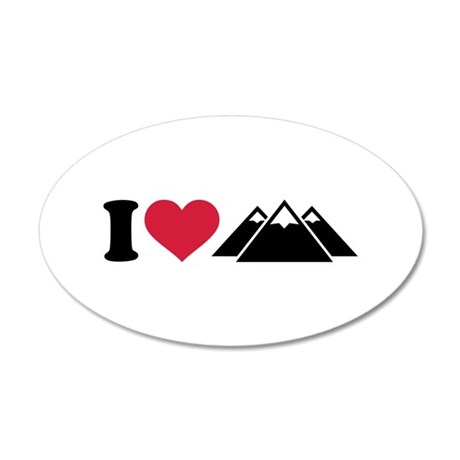 I love mountains Wall Sticker
