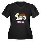 I Bake Women's Plus Size V-Neck Dark T-Shirt
