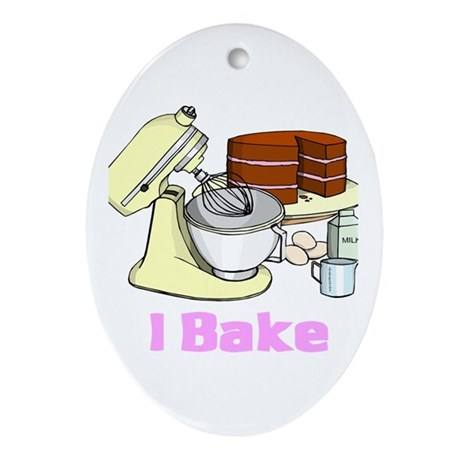 I Bake Oval Ornament