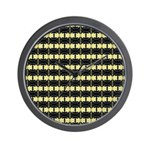 Little Yellow Flowers Wall Clock