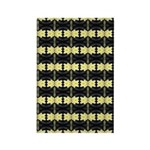 Little Yellow Flowers Rectangle Magnet (100 pack)