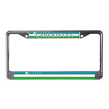 Uzbekistan Uzbek Flag License Plate Frame
