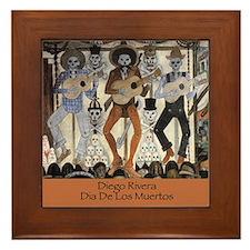 Diego Rivera Dia De Los Muertos Art Framed Tile