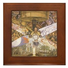 Diego Rivera Art Framed Tile Crossroads