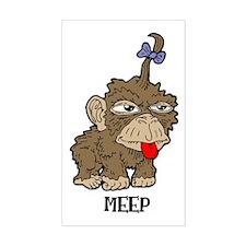 Meep Monkey Rectangle Decal