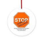 "ToledoNOW ""Stop Domestic Violence"" Ornament"