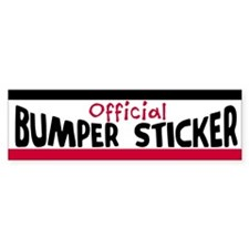 Official Bumper Bumper Sticker Bumper Bumper Sticker