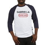 GABRIELLA kicks ass Baseball Jersey