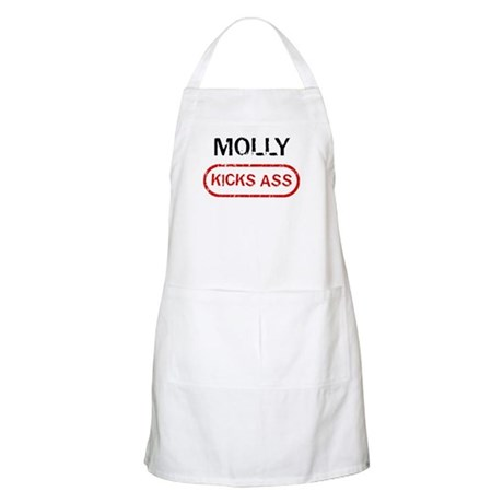 MOLLY kicks ass BBQ Apron