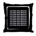 Can't Sleep, Clowns Will Eat Me Throw Pillow