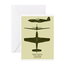 P-51 Greeting Card