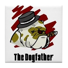 The Dogfather Tile Coaster
