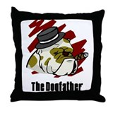 The Dogfather Throw Pillow