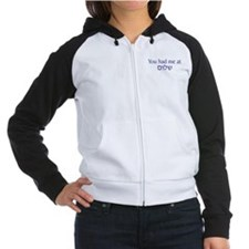 You had me at Shalom Women's Raglan Hoodie