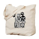 myDOGSrock (messy print) Tote Bag