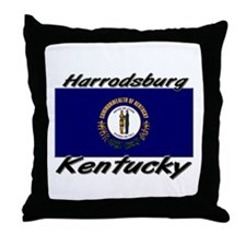 Harrodsburg Kentucky Throw Pillow
