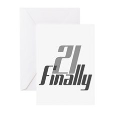 21 Finally Birthday 21st Greeting Cards (Pk of 20)