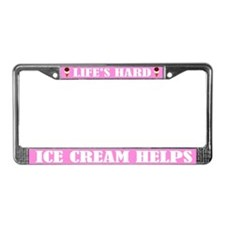 Funny Ice Cream License Plate Frame
